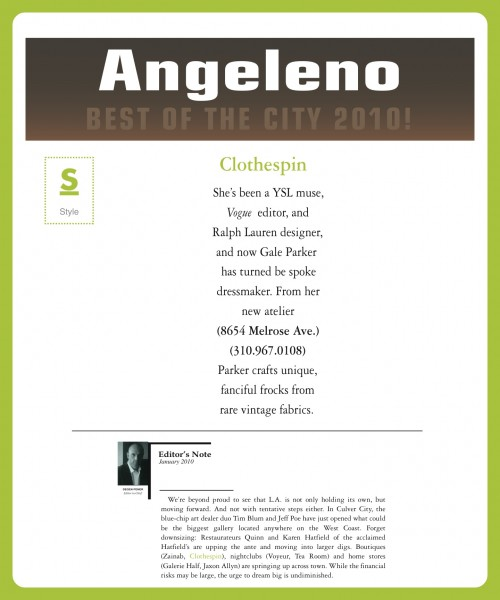 Angelino Magazine Best of 2010